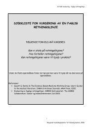 sjekkliste for vurdering av en faglig retningslinje - Nasjonalt ...