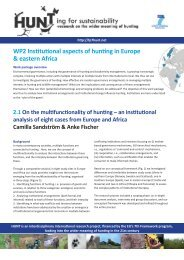 an institutional analysis of eight cases from Europe and Africa