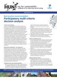 Participatory multi-criteria decision analysis