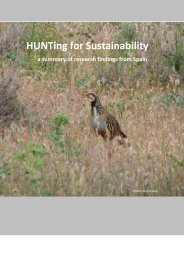 a summary of research findings from Spain - Hunting for sustainability