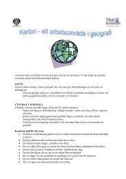 Pedagogisk planering - Kartan - ibiblioteket