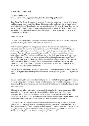 Norddalsakademiet 150910 (1).pdf - Sykehuset Innlandet HF