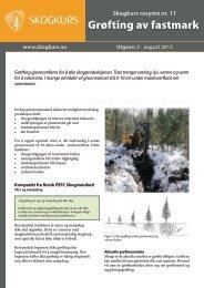 Nr 11. Grøfting av fastmark (pdf) - Skogbrukets kursinstitutt
