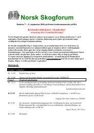 Norsk Skogforum - Skogbrukets kursinstitutt