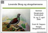 Levende skog og tiltak for skogshøns - Skogbrukets kursinstitutt