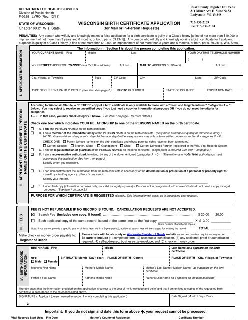birth certificate wisconsin application rusk county certificates