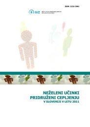 neželeni učinki pridruženi cepljenju v sloveniji v letu 2011
