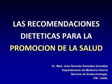 LAS RECOMENDACIONES DIETETICAS PARA LA ... - eTableros
