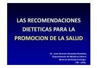 Las Recomedaciones Dietéticas para la Promoción de ... - eTableros