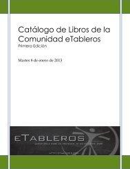 Catálogo de Libros de la Comunidad eTableros