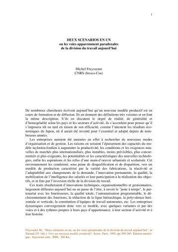 Deux scenarios en un.pdf - Michel Freyssenet