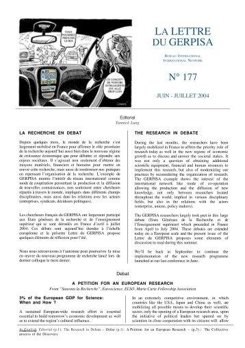La Lettre du GERPISA 177.pdf - Michel Freyssenet