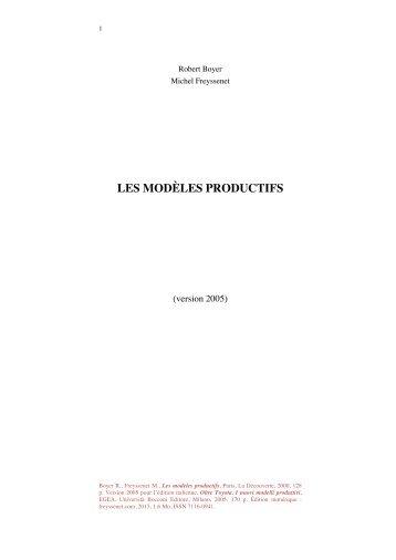 Les modèles productifs (version en français de l ... - Michel Freyssenet