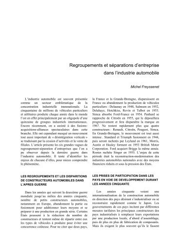 Actes 36, Regroupements et separations.pdf - Michel Freyssenet