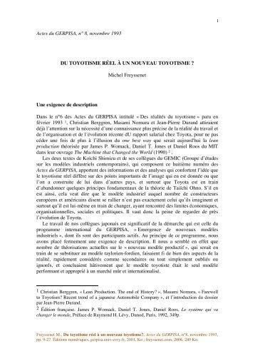 Du toyotisme reel à un nouveau toyotisme.pdf - Michel Freyssenet