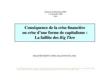 Presentation dia, Consequence de la crise ... - Michel Freyssenet