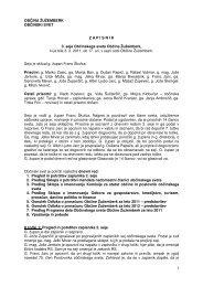 Zapisnik 3. seje občinskega sveta - Občina Žužemberk