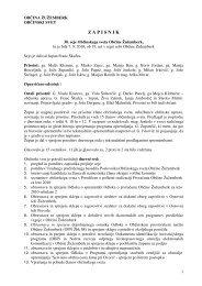 Zapisnik 30. seje občinskega sveta - Občina Žužemberk