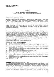 Zapisnik 2. seje občinskega sveta - Občina Žužemberk