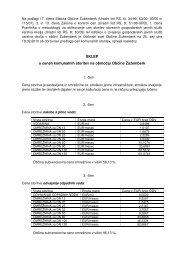 SKLEP o cenah komunalnih storitev na območju Občine Žužemberk