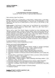 Zapisnik 9. seje občinskega sveta - Občina Žužemberk
