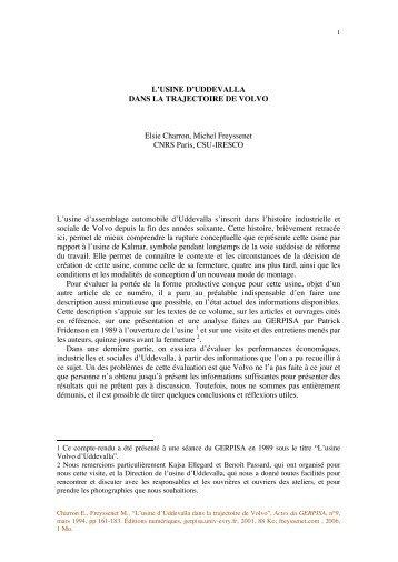 L usine d Uddevalla, texte.pdf - Michel Freyssenet