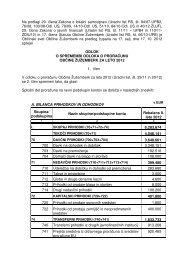 Odloka o spremembi Odloka o proračunu Občine Žužemberk za leto ...
