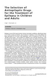The Selection of Antiepileptic Drugs for the Treatment of ... - eTableros