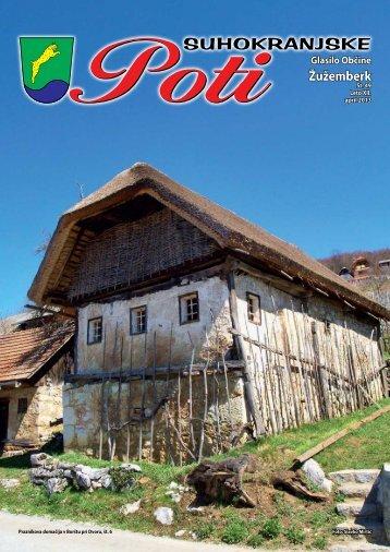 Suhokranjske poti pomlad 2013 - Občina Žužemberk