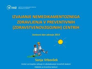 Izvajanje Programa svetovanje za zdravje. - IVZ RS