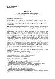 Zapisnik 6. seje občinskega sveta - Občina Žužemberk