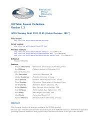 VOTable Format Definition Version 1.3 - IVOA