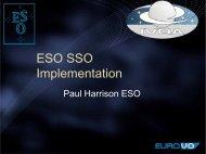 ESO SSO Implementation - IVOA