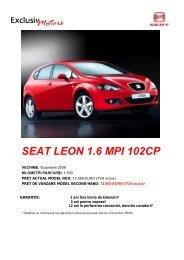 SEAT LEON 1.6 MPI 102CP
