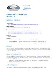 Referencing STC in VOTable Version 1.03 - IVOA