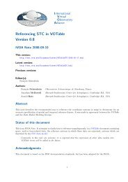 Referencing STC in VOTable Version 0.8 - IVOA