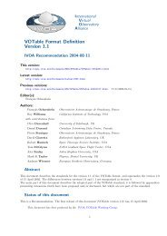 VOTable Format Definition Version 1.1 - IVOA