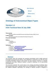 Ontology of Astronomical Object Types Version 1.1 IVOA Technical ...