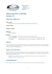 Referencing STC in VOTable Version 1.0 - IVOA