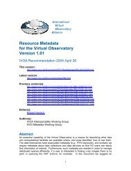 Resource Metadata for the Virtual Observatory Version 1.01 - IVOA