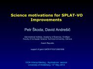 Science motivations for SPLAT-VO Improvements Petr Å koda ... - IVOA