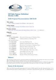 VOTable Format Definition Version 1.093 - IVOA