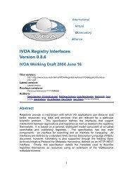 IVOA Registry Interfaces Version 0.8.6