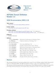 VOTable Format Definition Version 1.2 - IVOA