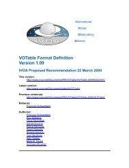 VOTable Format Definition Version 1.09 IVOA Proposed ...