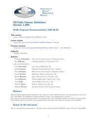 VOTable Format Definition Version 1.094 - IVOA
