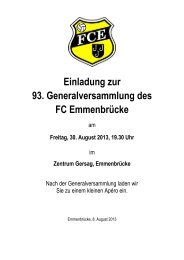 Broschüre GV 2013 mit Traktandenliste, Protokoll der a.o. GV vom ...