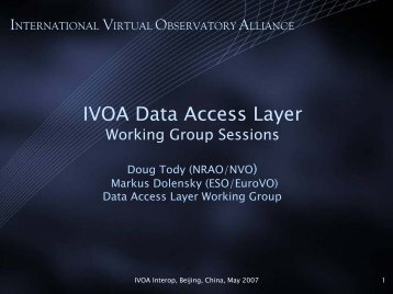 IVOA Data Access Layer