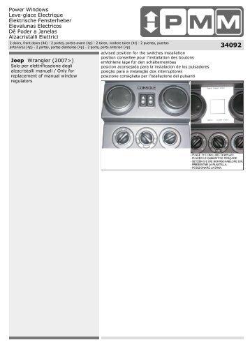 Jeep Wrangler (2007 - ALGO : Alzacristalli Elettrici - Power Windows