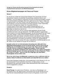 Grüne Mitgliederkampagne mit Fokus auf Frauen - Die Grünen ...